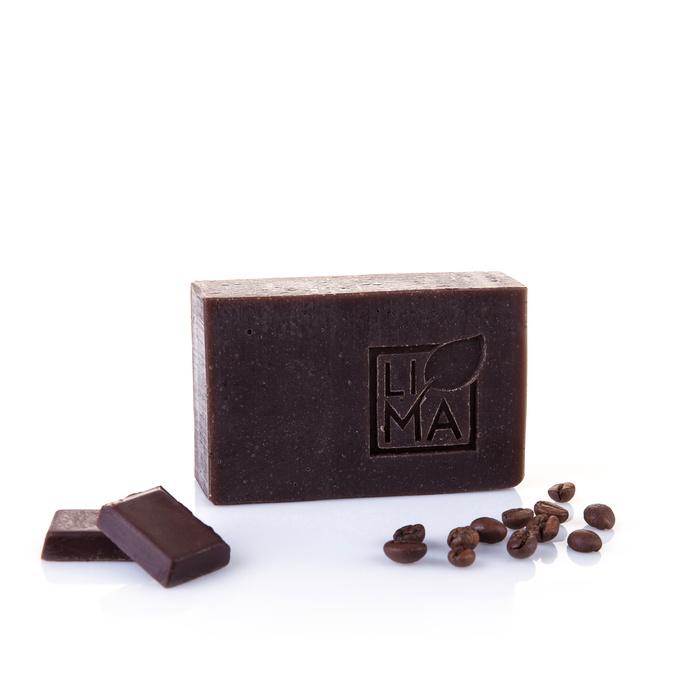 Peelingseife mit Kakao und Kaffee